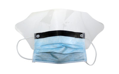 Facemask & Eyeshield in 1 CE 99% filtration N95 FFP2 – MOQ 4000 – £0.30 each